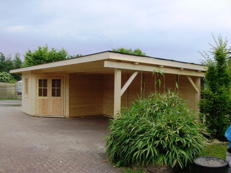 5-Eck-Gartenhaus mit Vordach