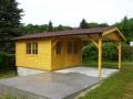 Gartenhaus mit langem Vordach